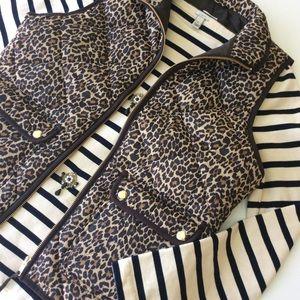 J. Crew leopard Vest